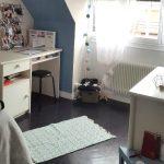 Chambre repeinte en couleur douce par custom deco