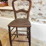 ancienne chaise haute de caisse avant relooking vintage custom deco