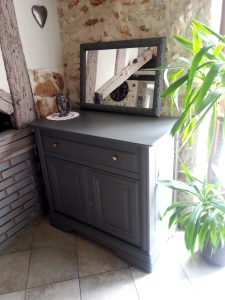 Custom deco meuble merisier massif relooké