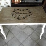 Table ancienne vintage repeinte par custom deco