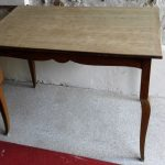 Table ancienne vintage avant relooking custom deco