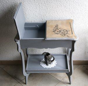 table de rangement vintage relookée par custom deco vintage