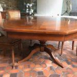 table merisier avant